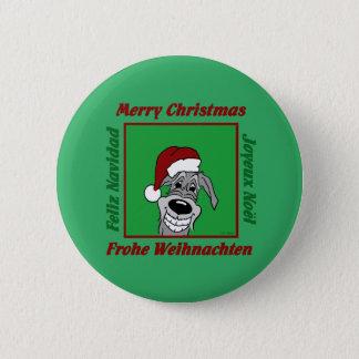 Irish Wolfhound Christmas 6 Cm Round Badge