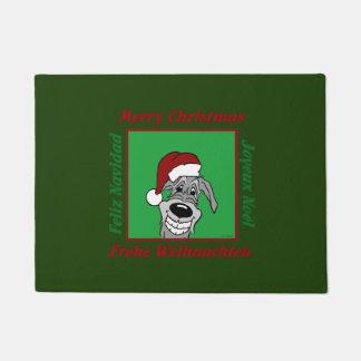 Irish Wolfhound Christmas Doormat