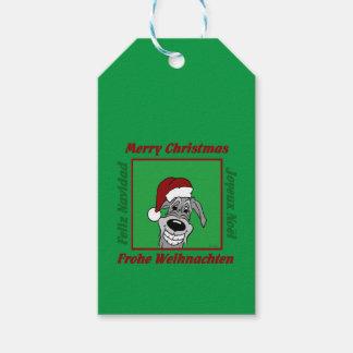 Irish Wolfhound Christmas Gift Tags