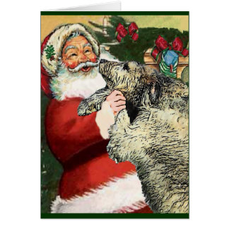 Irish Wolfhound Christmas Gifts Greeting Card