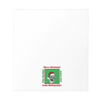 Irish Wolfhound Christmas Notepad