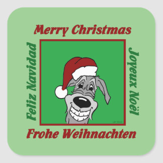Irish Wolfhound Christmas Square Sticker