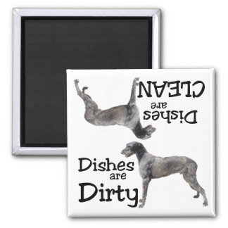 Irish Wolfhound Dishwasher Magnet