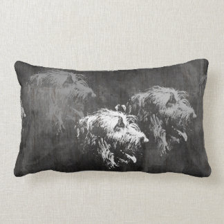 Irish Wolfhound: doubles Lumbar Pillow