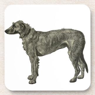Irish wolfhound drink coasters