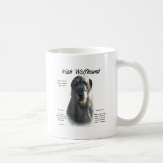 Irish Wolfhound (grey) History Design Coffee Mug