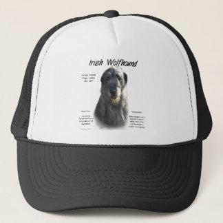 Irish Wolfhound (grey) History Design Trucker Hat