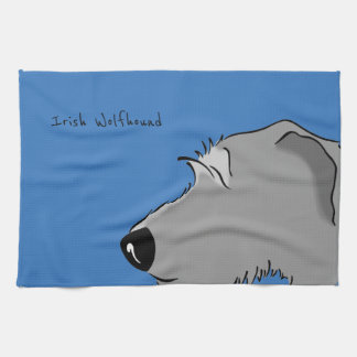 Irish Wolfhound Head Towel