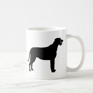 Irish Wolfhound (in black) Coffee Mugs