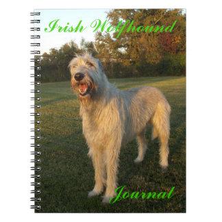 Irish Wolfhound Journal Spiral Notebooks