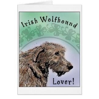 Irish Wolfhound Lover Greeting Card