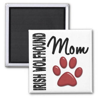 Irish Wolfhound Mom 2 Square Magnet