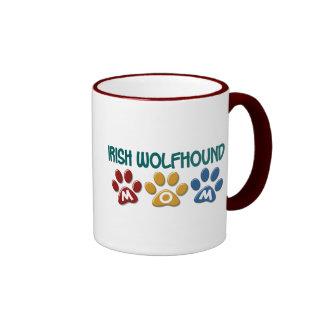 IRISH WOLFHOUND Mom Paw Print 1 Coffee Mugs