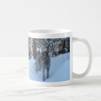 Irish wolfhound classic white coffee mug