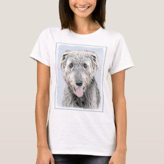Irish Wolfhound Painting - Cute Original Dog Art T-Shirt