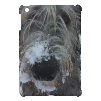 irish wolfhound playing in the snow iPad mini cover