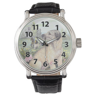 Irish Wolfhound Puppy Dreamer Wristwatch