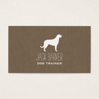 Irish Wolfhound Silhouette Business Card