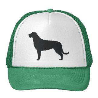Irish Wolfhound Silhouette Mesh Hats
