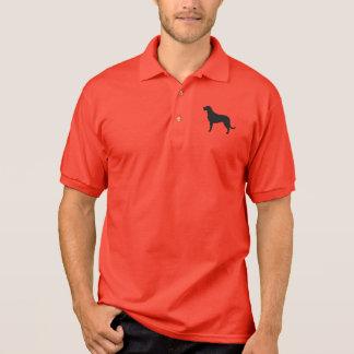 Irish Wolfhound Silhouette Polo Shirt