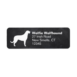 Irish Wolfhound Silhouette Return Address Label
