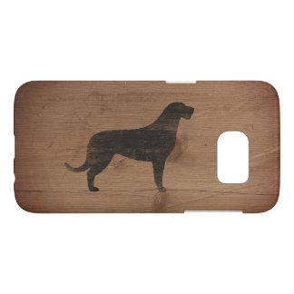 Irish Wolfhound Silhouette Rustic