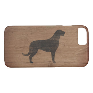 Irish Wolfhound Silhouette Rustic iPhone 8/7 Case