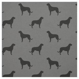 Irish Wolfhound Silhouettes Pattern Fabric