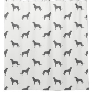Irish Wolfhound Silhouettes Pattern Shower Curtain