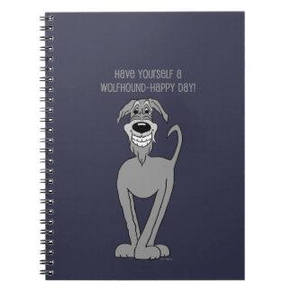 Irish Wolfhound Smile Spiral Notebook