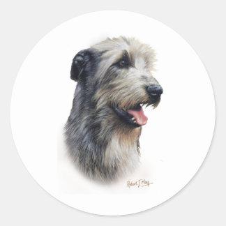 Irish Wolfhound Classic Round Sticker