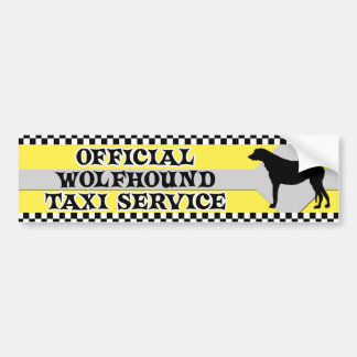 Irish Wolfhound Taxi Service Bumper Sticker