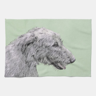 Irish Wolfhound Tea Towel