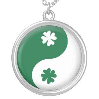Irish Ying & Yang Silver Plated Necklace