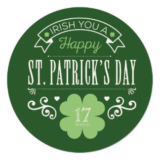 Irish You a Happy St. Patrick's Day Card 13 Cm X 13 Cm Square Invitation Card
