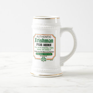 Irishman for Hire Beer mug