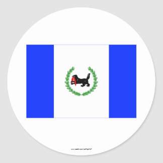 Irkutsk Oblast Flag Round Sticker
