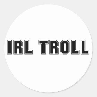 IRL Troll Round Sticker