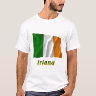 Irland Fliegende Flagge mit Namen T-Shirt