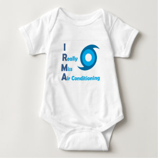IRMA = I really miss Air Conditioning! Baby Bodysuit