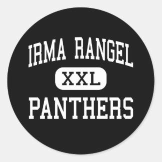 Irma Rangel - PANTHERS - High - Dallas Texas Round Sticker