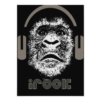 irock Gorilla Music 5.5x7.5 Paper Invitation Card