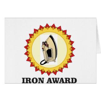 iron award hoop card