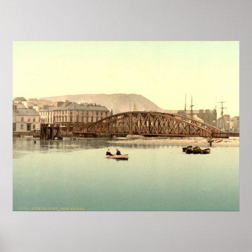 Iron Bridge, Ramsay, Isle of Man, England Posters