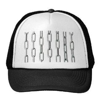 Iron chains mesh hats