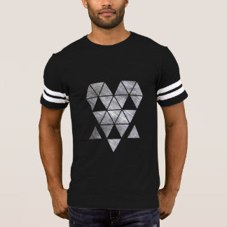 Iron creepy face men's dark football-shirt HQH T-Shirt
