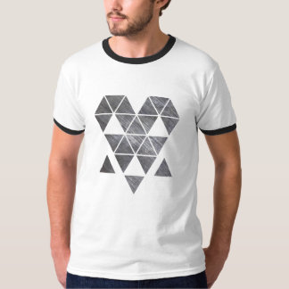 Iron creepy face men's ringer t-shirt HQH