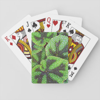 Iron Cross Begonia Floral Playing Cards