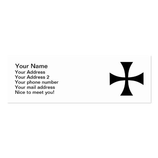 Iron cross business cards