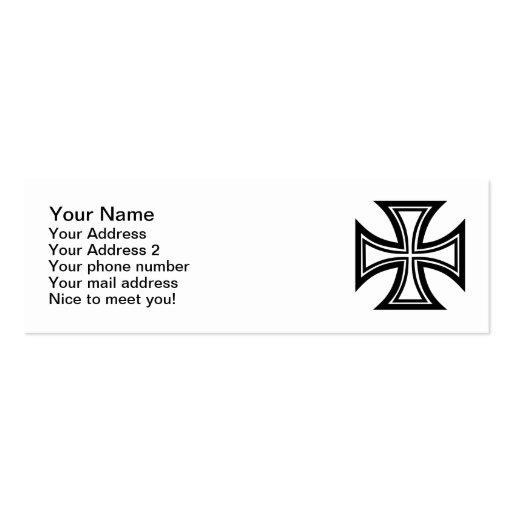 Iron cross business card templates